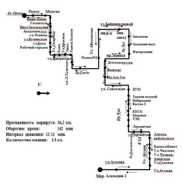 троллейбусный маршрут № 16