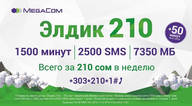 c2c550da89cc MegaCom - все услуги связи в одном пакете «Элдик 210» - Бизнес ...