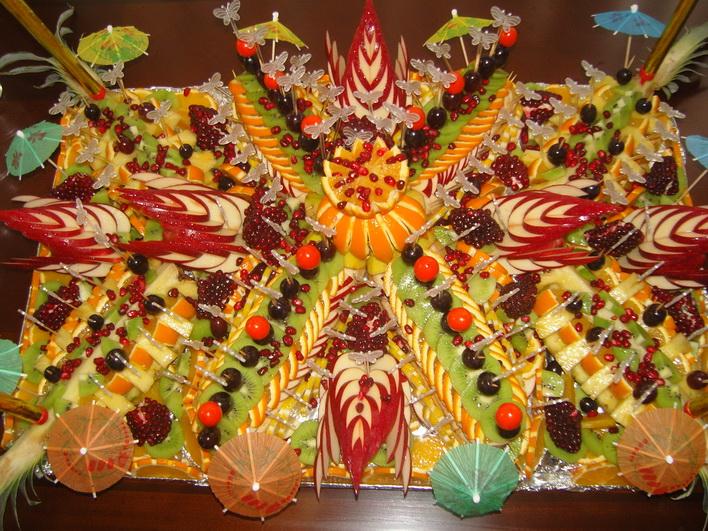 Мастер класс фруктовые пальмы - Master class